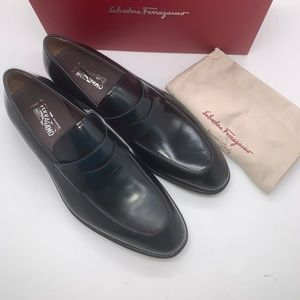 Salvatore Ferragamo Akon Leather Penny Loafers